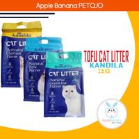 KANDILA Soya Tofu Clump Cat Litter 7 Liter/2,5kg Pasir Kucing - Natural