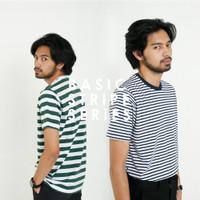 Kaos Polos Seri Stripe (garis) | Basic T-shirt untuk Pria dan Wanita