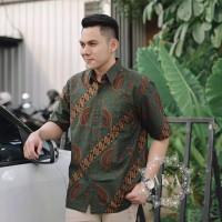 Baju batik pria kemeja batik pria cowok lengan pendek pekalongan G59