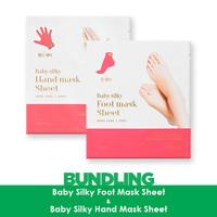 Holika Holika Baby Silky Hand Mask Sheet + Baby SIlky Foot Mask Sheet