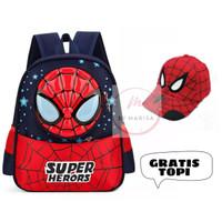 Tas Sekolah Anak Laki-Laki Tas Backpack Tas Ransel Anak Spiderman