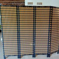 penyekat ruangan partisi rotan sintetis 2 pintu tinggi 150 cm