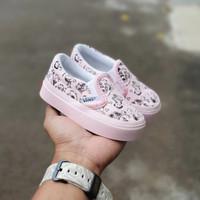 sepatu anak perempuan bayi 1 tahun vans anak slip on snoopy pink