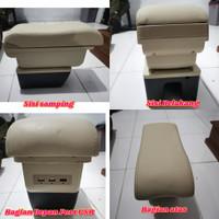 Arm Rest Console Box Depan 3 USB Suzuki All New Ertiga Beige & Grey