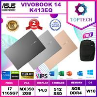 ASUS VIVOBOOK K413EQ - I7 1165G7 8GB 512SSD MX350 2GB W10+OFFICE
