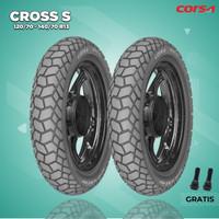 Paket Ban Motor YAMAHA NMAX / CORSA CROSS S 120/70-140/70 R13 Tubeless