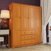 lemari pakaian kayu jati 4 pintu