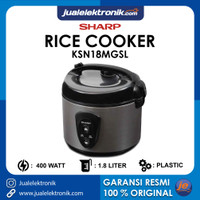 Sharp Rice Cooker 1.8 Liter Silver – KSN18MGSL