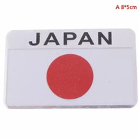 Stiker Dekorasi Emblem Logo Bendera Japan Mobil/Motor