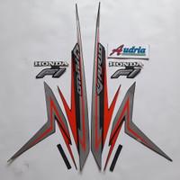 Stiker Striping Motor Honda Vario Techno Esp 125 FI 2016 Hitam-Merah