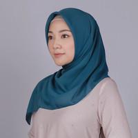 Zoya Krisi Fancy Plain Scarf - Hijab Kerudung Segi Empat - Navy