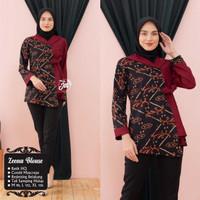 Baju Batik Blouse Kombinasi Motif Songket