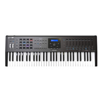ARTURIA KeyLab 61 MkII Black Keyboard Controller,BMJ