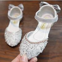 PRINCESS TOWN flat shoes sepatu anak perempuan import - silver, size 30