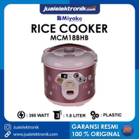 Miyako MCM18BHB MCM 18 BHB – Magic Com 1.8 Liter 3in1 rice cooker