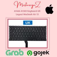 A1466 A1369 Keyboard UK Layout Macbook Air 13 A1369 A1466 2011-2017
