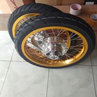 velg Megapro old or new/Tiger old tapak lebar 17x215/185 Plus ban