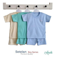 Aruchi Setelan oblong pendek Polos Boy&Girl Series / BAJU+CELANA ANAK