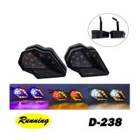 Sein Tempel Fairing LED Running Sen Motor Ninja Vixion R15 R25 CB150 C