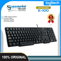 Logitech K100 Keyboard PS2 Keyboard Laptop PC Original Logitech