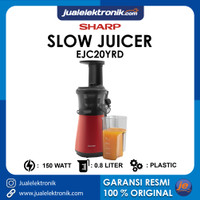 SHARP Slow Juicer 0.8 Liter 150 Watt EJC20YRD