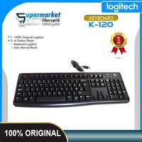 Logitech K120 Keyboard Cable USB Original 100% Keyboard Laptop