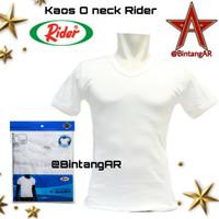 T-Shirt / Kaos Dalam / Oblong RIDER PUTIH - Style R223B