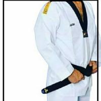 Baju Taekwondo Dewasa Kerah Hitam - Dobok Kwon Tiger DAN