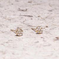 Anting emas asli 18k dengan berlian asli eropa murah
