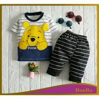 Setelan Baju Bayi Laki Laki Motif Panda 6 bulan - 3 tahun lucu murah