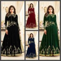 Fashion wanita maxi india/Dress bordir/Gamis turkey/Baju kondangan