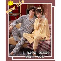 baju tidur setelan piyama pp couple fashion 777