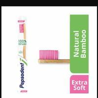 SIKAT GIGI PEPSODENT BAMBOO SOFT & EXTRA SOFT - extra Soft pink