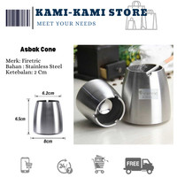SALE! Asbak Rokok Anti Angin Cone Cylinder Stainless Steel - ZJ38100