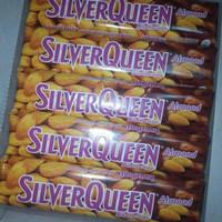 Silverqueen Almonds 65 gram 1 box (isi 6 pcs)