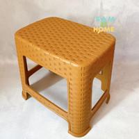 Bangku Kursi Jongkok / Kursi Bangku Pendek Anak motif Rotan / Anyaman