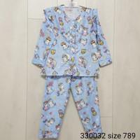 Setelan Baju Tidur Anak Perempuan Pendek Panjang Unicorn Usia 3-12Thn
