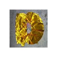 Balon Foil Huruf 40Cm Abjad Gold Motif Chrome / Balon Nama Ulang Tahun