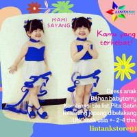 Baju Ank Perempuan Dress Pesta Dres Anak Cewek Cewe 2 3 4 Tahun Balita
