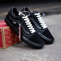 Sepatu Sneakers Vans Old Skool Pro Skate Black Premium Quality