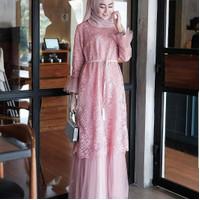 Baju kondangan wanita remaja muslimah - Pink, all size