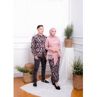 [WIDBATIK] Kebaya dan Batik Couple Amalia Pink - Baju Kondangan