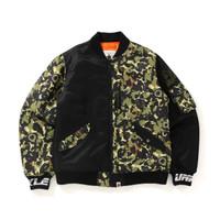 Bape x UNKLE MO Wax Headz MWA Camo MA-1 Bomber Jacket Limited Rare