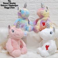 Tas Ransel Boneka Unicorn Tanduk Bulu