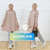 Baju anak Set Aileen Baju Setelan Celana + Tunik Muslim Anak Perempuan