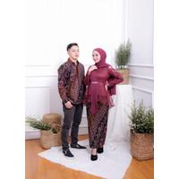 [WIDBATIK] Kebaya dan Batik Couple Amalia Maroon - Baju Lamaran