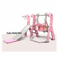 Murah mainan anak balita Tk perosotan ayunan seluncuran swing indoor