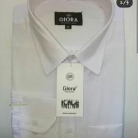kemeja/baju/shirt putih polos pria - Putih, S