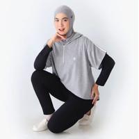 Asymmetric Hoodie Active Wear Sport Wear Jumper Olahraga 9-0237