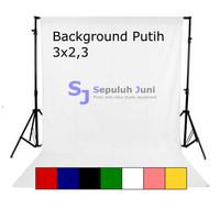 Background Foto Putih Polos Ukuran 3x2,36 Meter